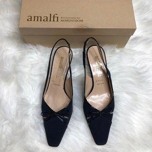 Amalfi for Nordstrom 7.5 Navy slingback heels